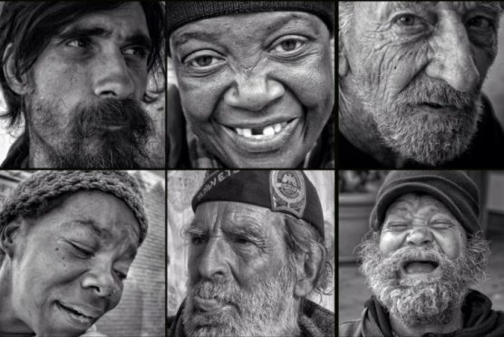 Faces of homeless people in Los Angeles.. | Photos: David Blumenkrantz
