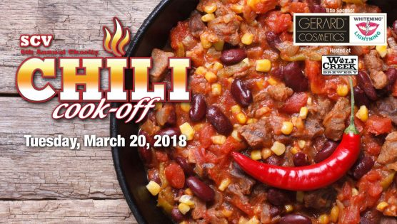 SCV Charity Chili Cook-off at Wolf Creek Brewery March 20, 2018