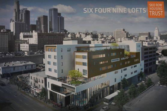 Six Four Nine Lofts on Skid Row, downtown Los Angeles