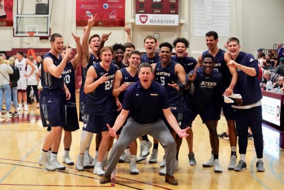Master's men's basketball team first GSAC title 02-18-18
