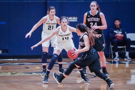TMU women's basketball team vs Westmont - file photo