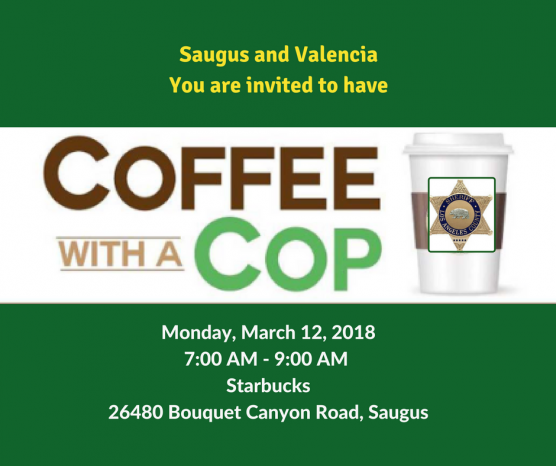 'Coffee with a Cop' at Starbucks in Saugus March 13, 2018