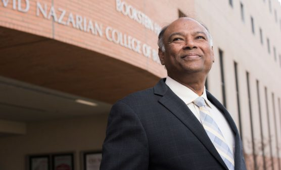 Chandra Dubramaniam, Dean, CSUN's David Nazarian College of Business and Economics. | Photo: Lee Choo.