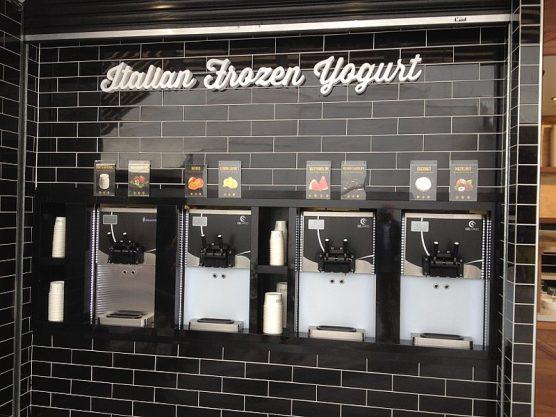 Frozen yogurt vending machines. Photo: Kgbo-WMC.