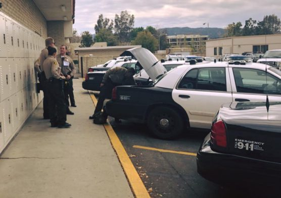 SCV Sheriff's Station booking parking lot