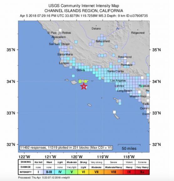 Channel Islands Earthquake