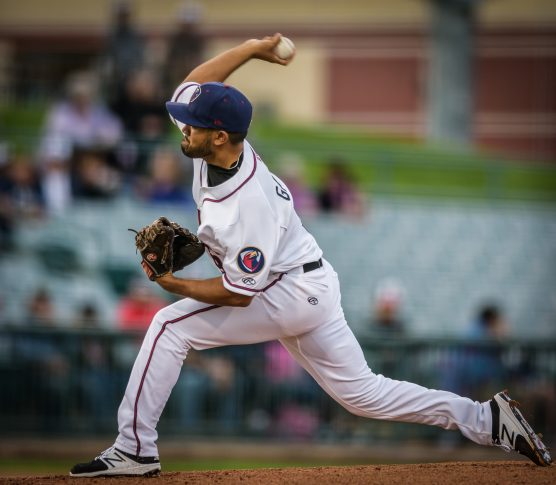 Lancaster JetHawks starting pitcher Rico Garcia. | Photo: Kevin Karzin.