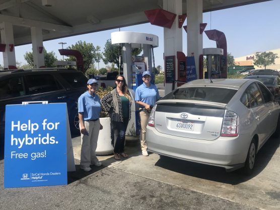 emissions standards - Honda provided free gas for hybrid cars in Monrovia on April 14, 2018.