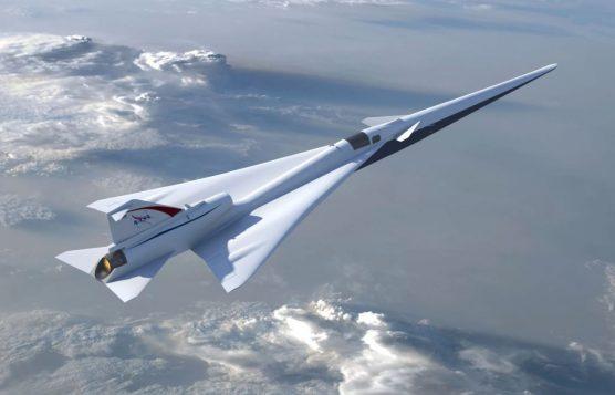 Illustration of NASA's Low-Boom Flight Demonstration aircraft. | Photo: NASA/Lockheed Martin