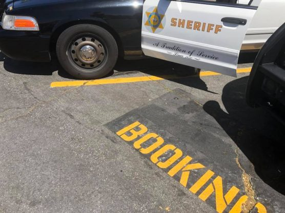 Santa Clarita Valley Sheriff's Station booking area parking - burglary charges