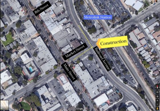 SoCalGas construction on Railroad Avenue