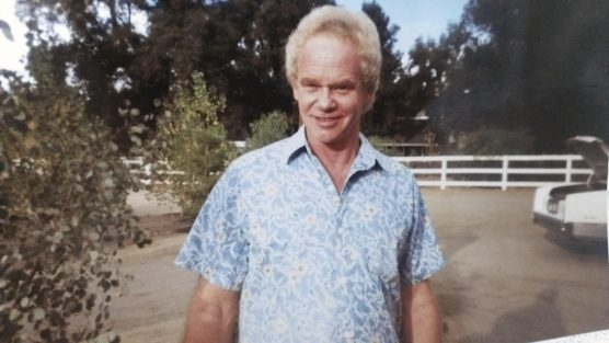 Steve Stone on the Stone family ranch in Sand Canyon, 1990.