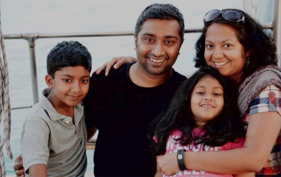 The Thottapilly family of Valencia, California: Sandeep, his wife Souyma, and their children Saachi and Siddhant, died on April 6, 2018 when their SUV plunged off Highway 101 and into the Eel River near Leggett, California.