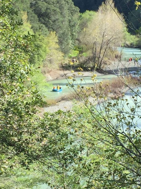 Eel River in Northern California, where authorities are searching for a missing vehicle thought to belong to the Thottapilly family of Valencia, California, missing since April 5. | Photo: CHP-Gaberville.