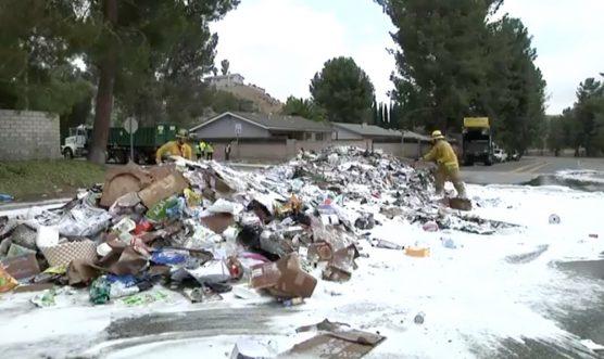 Trash Truck Fire