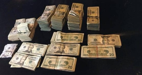 confiscated cash -- file photo