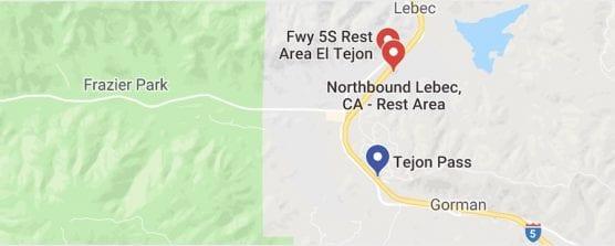 Tejon map