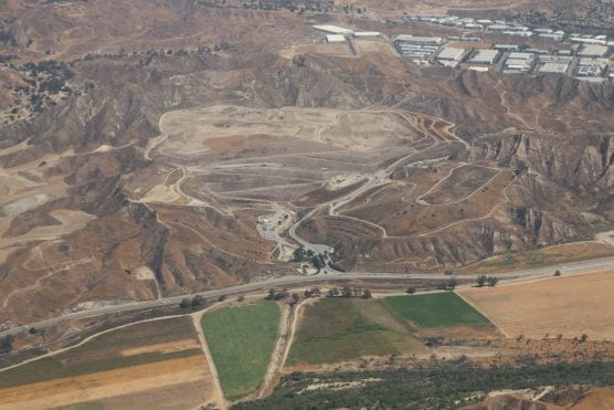 An aerial view of the Chiquita Canyon landfill in the Santa Clarita Valley on June 14,  2018. Photo: Stephen K. Peeples.