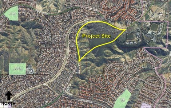 Bouquet Canyon Project map, Aug. 24, 2018.