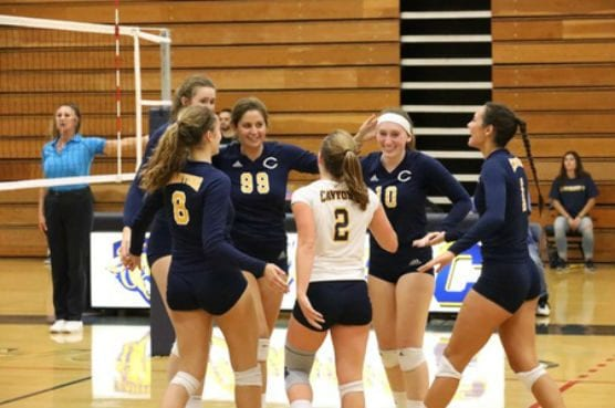 College of the Canyons has jumped to No. 9 in the most recent CCCWVCA statewide rankings after a week in which the Lady Cougars knocked off two top-five opponents, and lasted five sets vs. No. 8 Grossmont College. Photo: | Jacob Velarde/COC Sports Information.