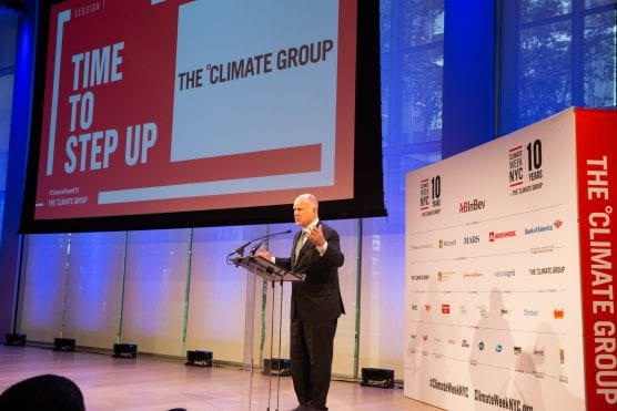 California Gov. Jerry Brown opens Climate Week NYC on Sept. 24, 2018.