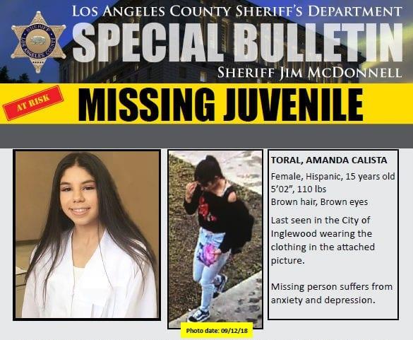 Santa Clarita Teen Reported Missing