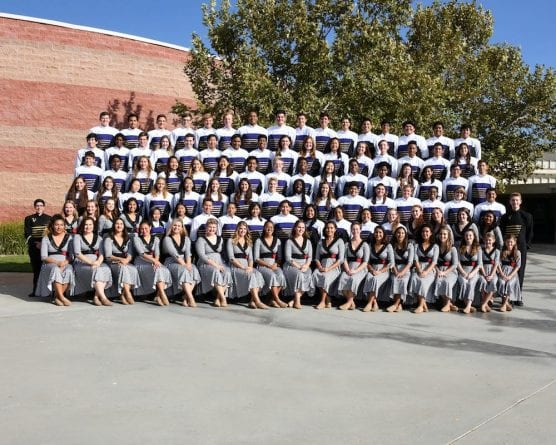 Valencia High School Marching Band and Color Guard