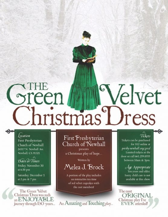 The Green Velvet Christmas Dress