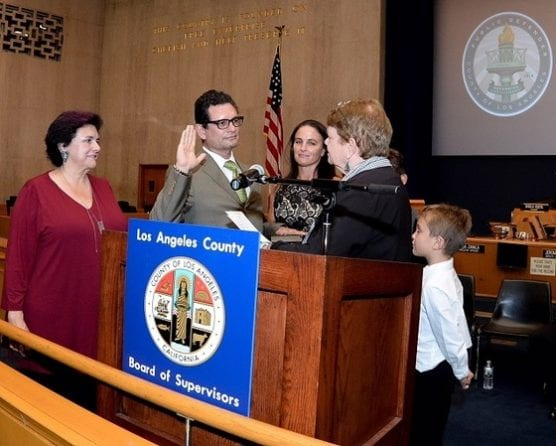 Ricardo García was sworn in as the 11th Los Angeles County Public Defender by County Supervisors' Chair Sheila Kuehl on Oct. 3. He is LA County's first Latino Public Defender.