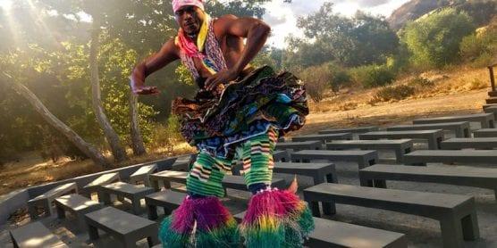 Volta Drum Dancer at the Placerita Canyon Nature Center.