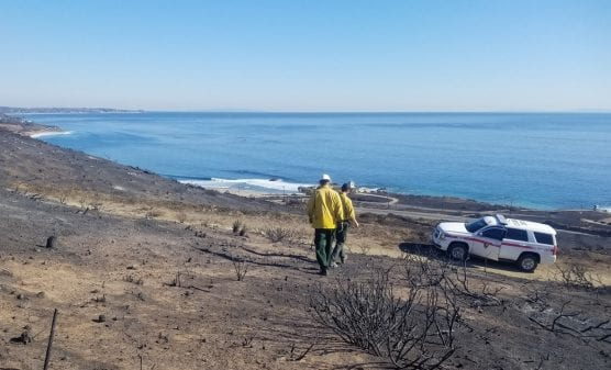 National Park Service rangers assess federal property post-Woolsey Fire. | Photo: NPS.