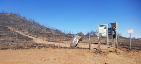 Mishe Mokwa Trailhead post-Woolsey Fire. | Photo: National Park Service.