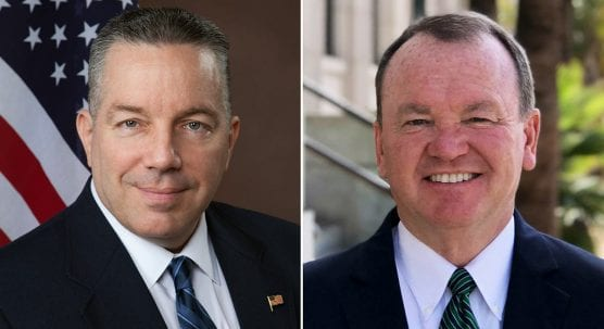 Retired Los Angeles County Sheriff's Lt. Alex Villanueva and incumbent Sheriff Jim McDonnell are in a tight race for the top job.