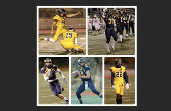 COC kicker linebacker Tariq Speights and kicker Tanner Brown were named CCCFCA All-Americans, and were joined by quarterback Wyatt Eget, wide receiver Brandon Pierce and defensive back Raeshawn Roland on Region III All-California team.