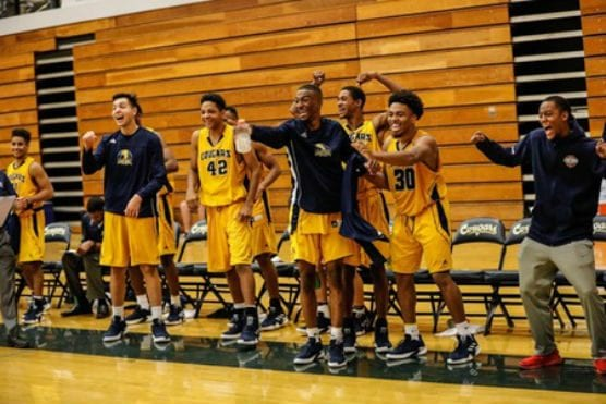 College of the Canyons (6-6) went 2-1 over the weekend capped by an 86-72 victory over host Santa Barbara in Saturday's third-place game. | Photo: Jacob Velarde/COC Sports Information.