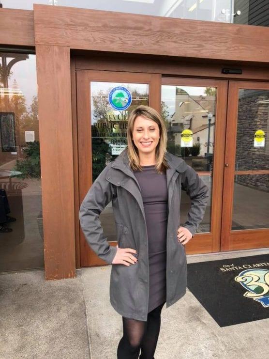 U.S. Rep. Katie Hill (D-Agua Dulce) is pictured in Santa Clarita.  Veterans History Project