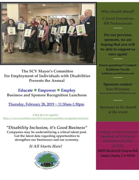 SCV Mayor's Committee for Employment of Individuals with Disabilities Luncheon