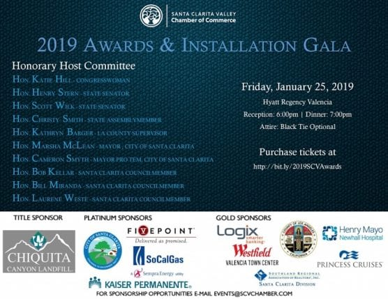 SCV Chamber 2019 Awards and Installation Gala