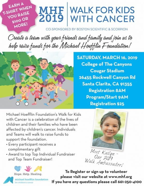 Michael Hoefflin Foundation Walk for Children with Cancer