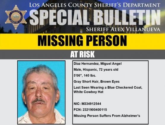Missing: Miguel Angel Diaz Hernandez of Lancaster.