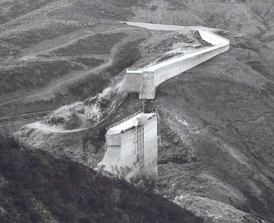 St. Francis Dam after its collapse
