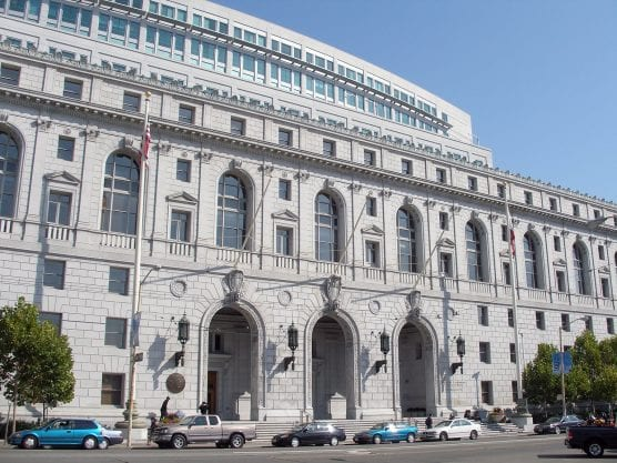 The Earl Warren Building and Courthouse (former California State Building) — at Civic Center Plaza in the San Francisco Civic Center, California, is home to the Supreme Court of California and the Court of Appeal for the First Appellate District. | Photo: coolcaesar/WMC.