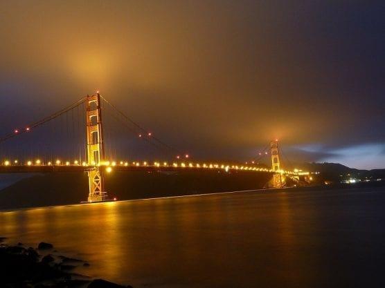 Low Clouds Around Golden Gate Bridge
