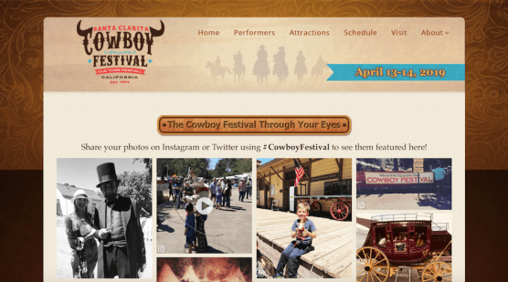 Cowboy Festival Website