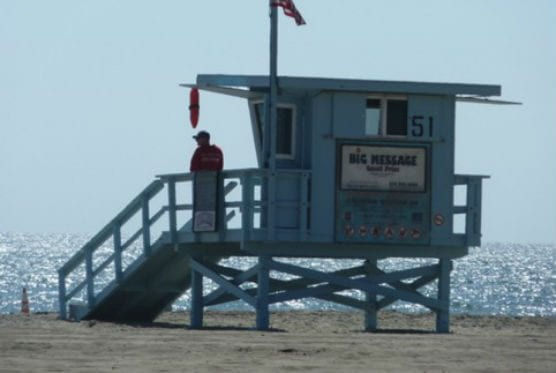 la county beach lifeguard station