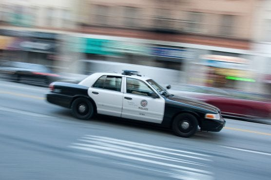 An LAPD Ford Crown Victoria Police Interceptor in downtown Los Angeles. | Photo: John Liu/CCA 2.0.