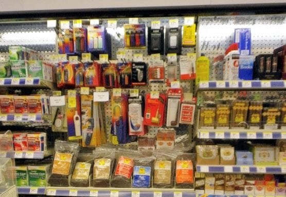 Flavored tobacco products display at a pharmacy. | Photo: Cory Doctorow-CCA 2.0.