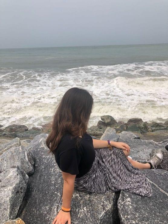 Bahar Tuncan at Cape Coast, Ghana, with AFS Global Prep in summer 2018.