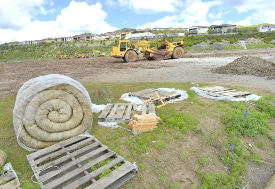 A view of the north-east corner at Plum Canyon Road of the Skyline Ranch project on Thursday. | Photo: Dan Watson/The Signal.