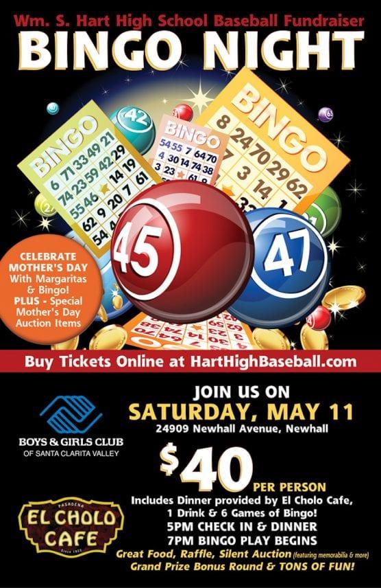 Hart Baseball Bingo Night